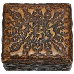 Leather Cherub Box Embossed