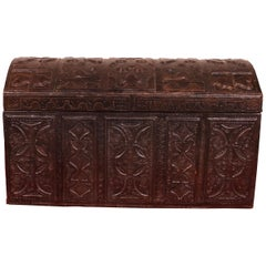 Leather Chest Probably from Cordoba, 19th Century