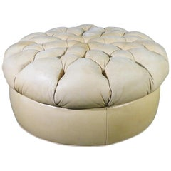 Leather Chesterfield Ottoman
