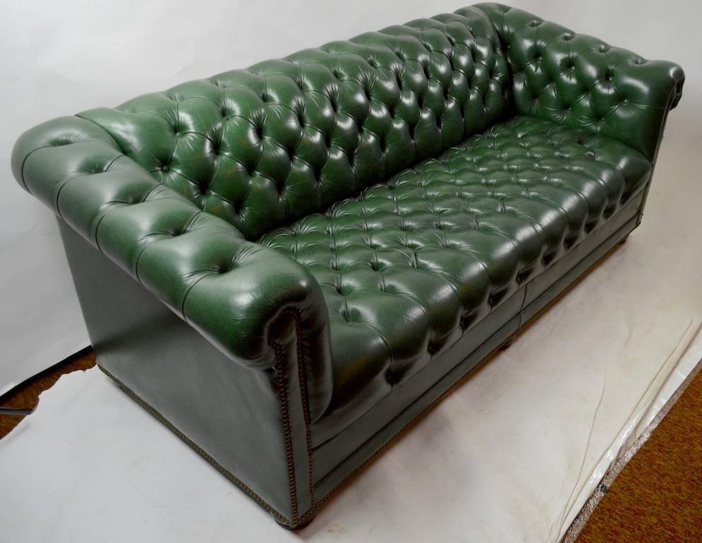 Leather Chesterfield Sofa by Hancock and Moore at 1stdibs