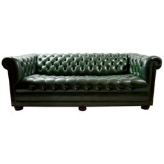 Leather Chesterfield Sofa by Hancock and Moore