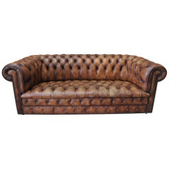 "Leather Chesterfield Sofa circa 1970 from ""KENRICK made in England"""