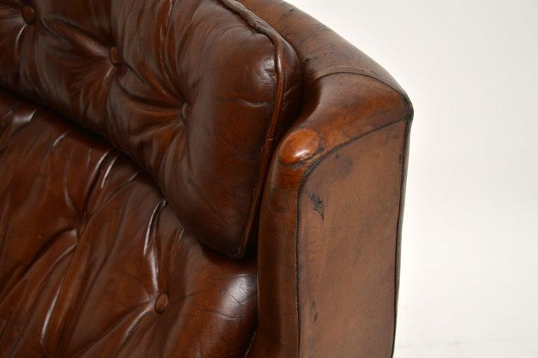Leather & Chrome Swivel Armchair Vintage, 1960's For Sale 4