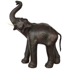 Leather-Clad Sculpture of an Elephant