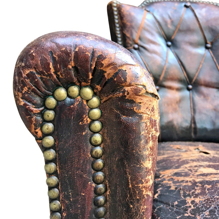 Leather Club Chair by Otto Schulz For Sale 5