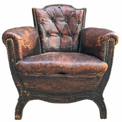 Leather Club Chair by Otto Schulz