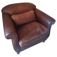 Leather Club Lounge Vintage Armchair Fendi