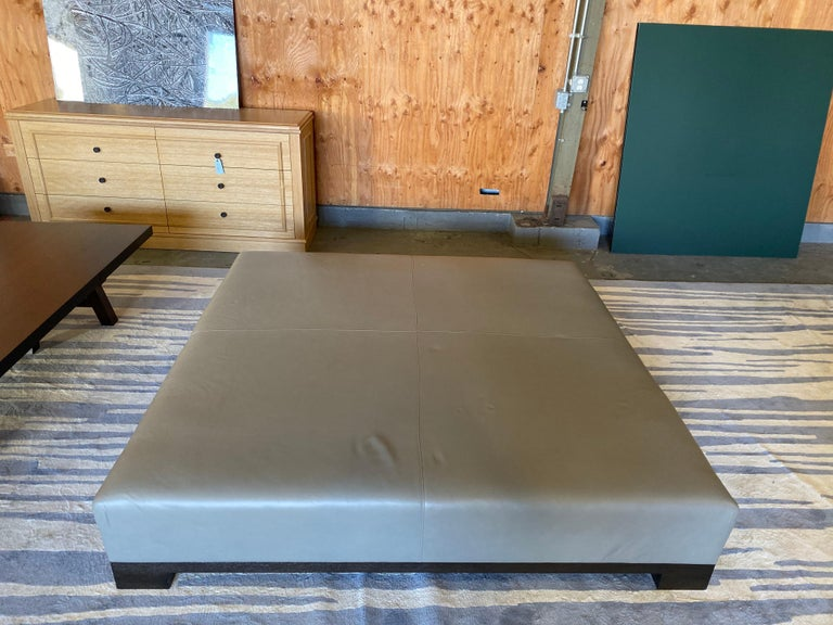 Leather Coffee Table, Extra Large For Sale 6