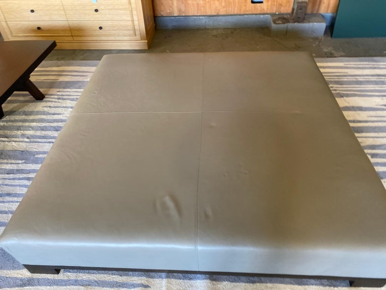 Leather Coffee Table, Extra Large For Sale 7