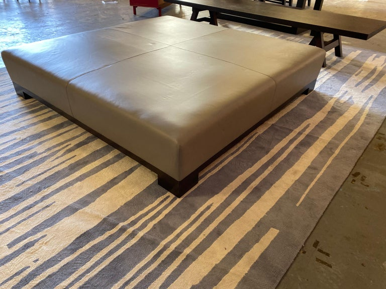 Leather Coffee Table, Extra Large For Sale 8