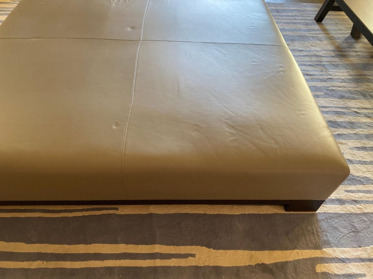 Leather Coffee Table, Extra Large For Sale 11