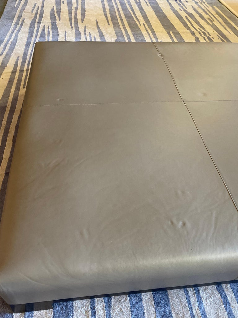 Leather Coffee Table, Extra Large For Sale 13