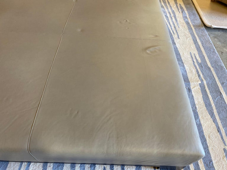 Leather Coffee Table, Extra Large For Sale 14
