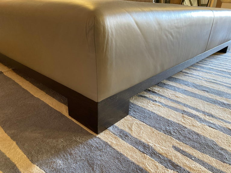 Leather Coffee Table, Extra Large For Sale 15