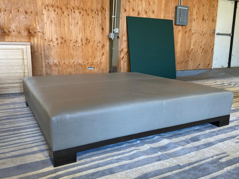 American Leather Coffee Table, Extra Large For Sale
