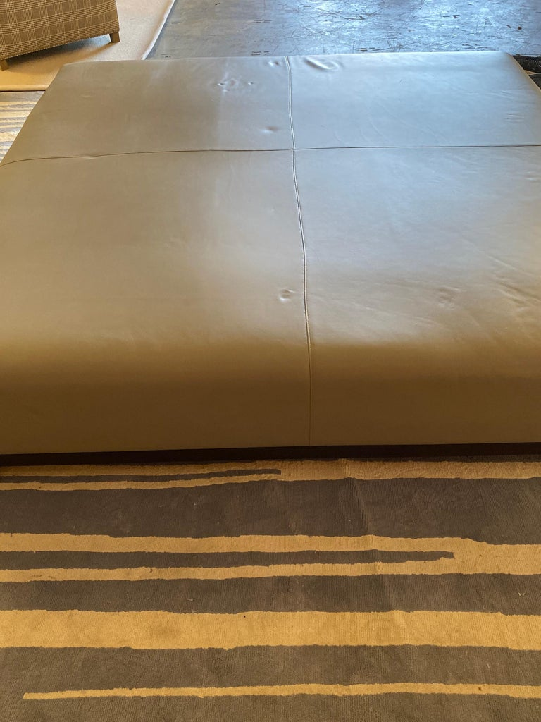 Leather Coffee Table, Extra Large For Sale 1