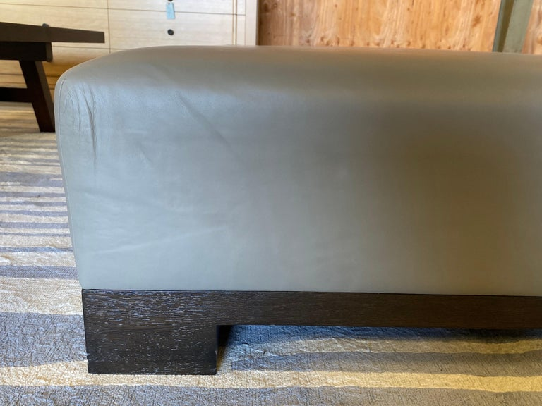 Leather Coffee Table, Extra Large For Sale 2