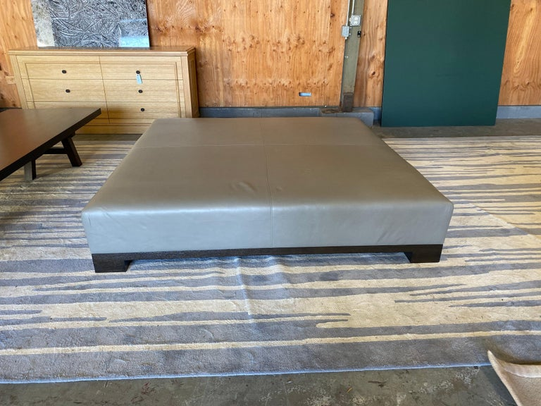 Leather Coffee Table, Extra Large For Sale 3