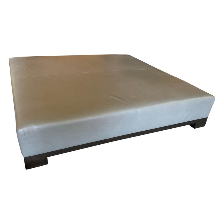 Leather Coffee Table, Extra Large For Sale