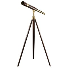 Leather Covered Brass Telescope from World War I