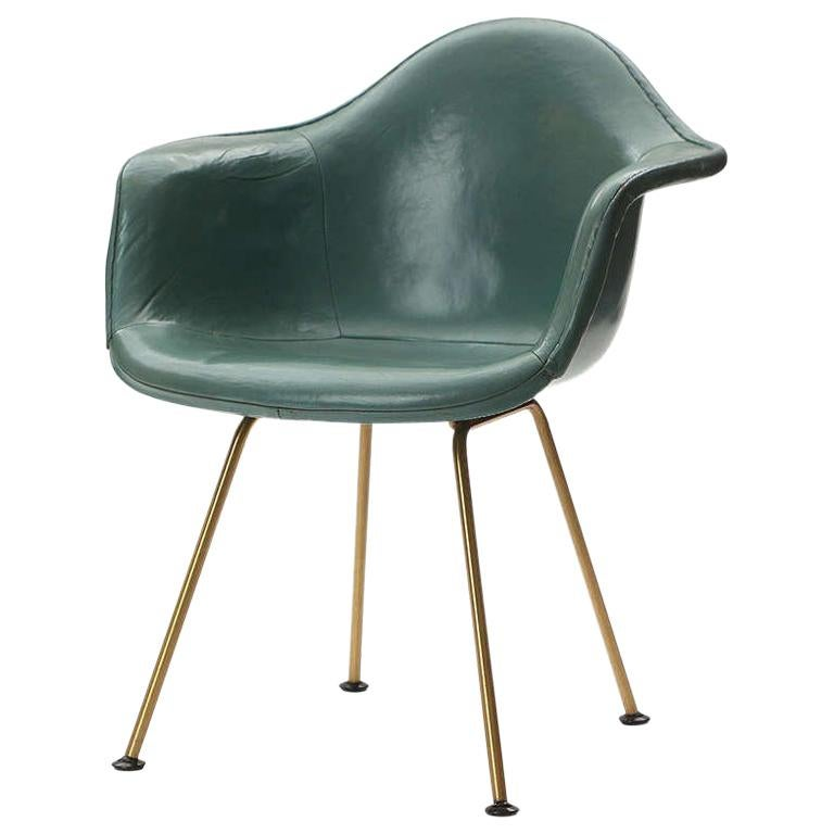 1960s Leather DAX Armchair by Charles & Ray Eames for Herman Miller
