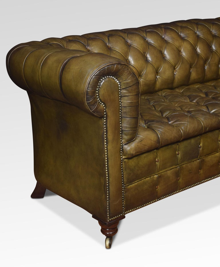 Leather Deep Buttoned Chesterfield For Sale 5