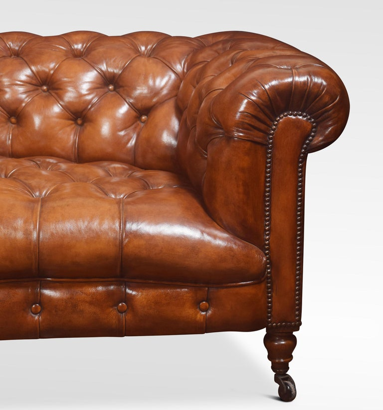 Leather Deep Buttoned Chesterfield For Sale 2