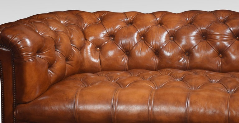 Leather Deep Buttoned Chesterfield For Sale 3