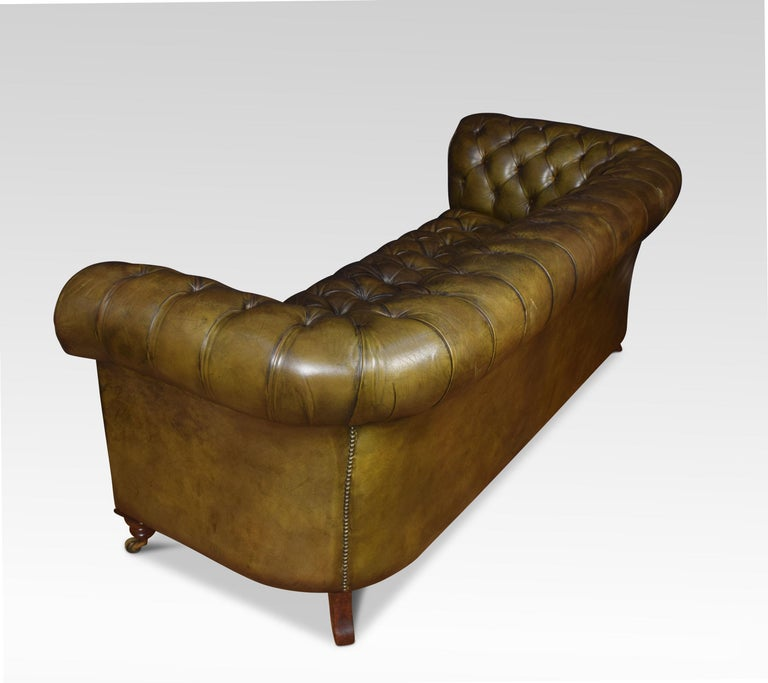 Leather Deep Buttoned Chesterfield For Sale 4