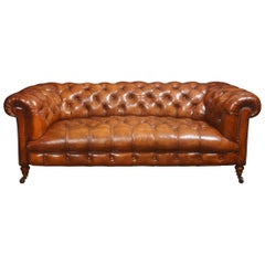 Leather Deep Buttoned Chesterfield