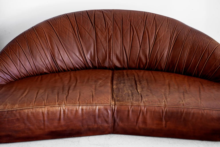 Leather Demilune Sofa 1