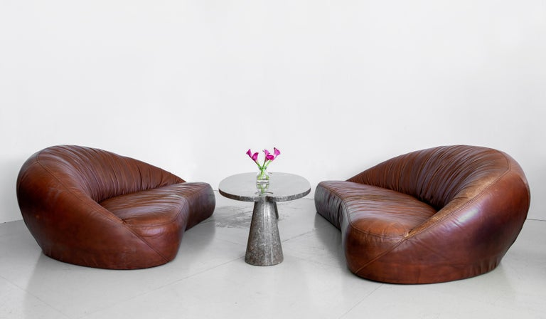 Leather Demilune Sofa 2