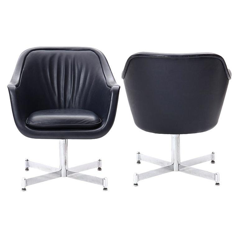 Leather Desk Chair by Ward Bennett