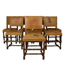Leather Dining Chairs Set of 8