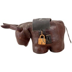 Leather Donkey Mule Money Coin Bank style Dimitri Omersa made England