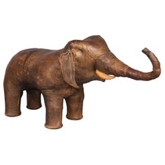 Leather Elephant Ottoman