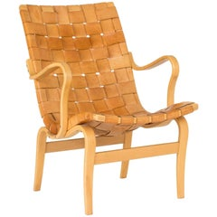 """Leather """"Eva"""" Lounge Chair by Bruno Mathsson"""