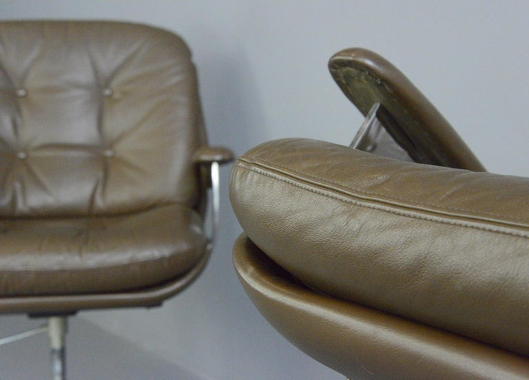 Leather Executive Chairs by Ring Mobelfabrikk, circa 1970s For Sale 7