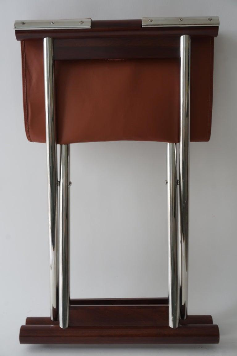 Leather Folding X-Sling Stool 3