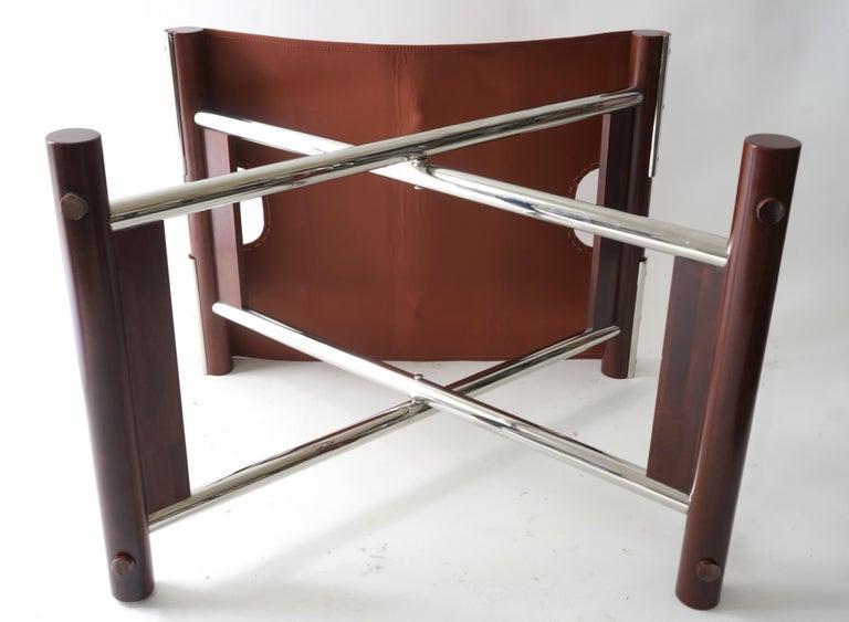 Leather Folding X-Sling Stool 1