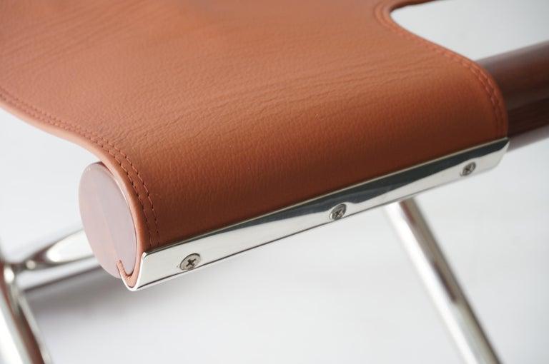 Leather Folding X-Sling Stool 2
