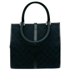 Leather Gucci Jackie O Mini Tote Bag – Monogram Black