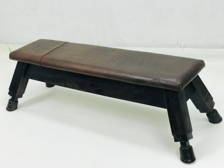 Machine-Made Leather Gym Bench,