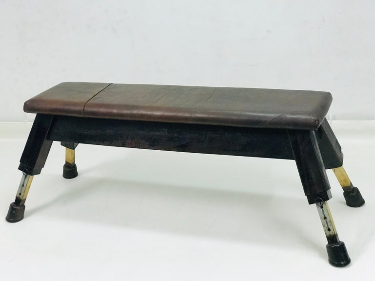 Leather Gym Bench,