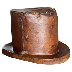 Leather Hat Box for Cylinders, Early 19th Century