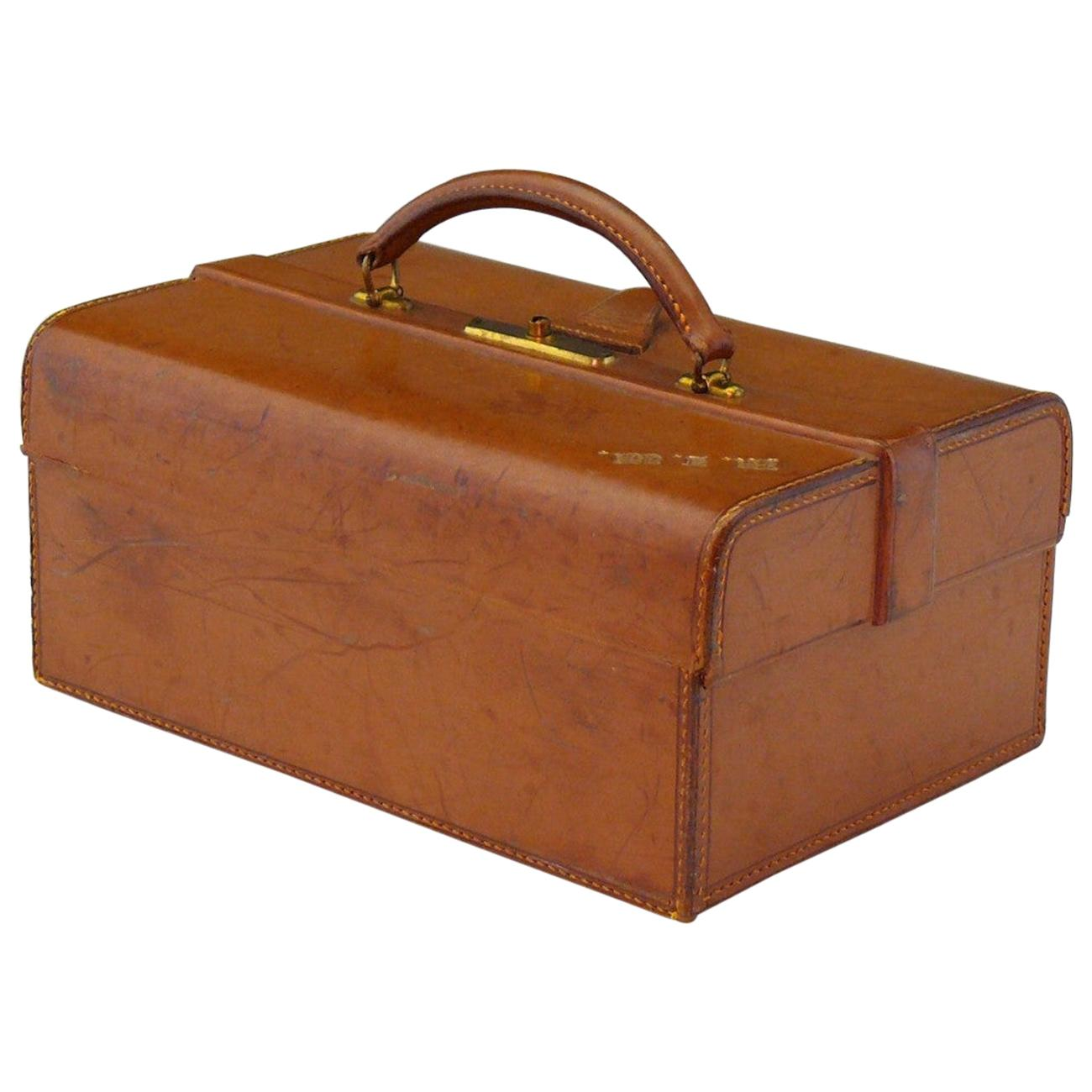 Leather Jewelry Case by John Pound and Company, circa 1920