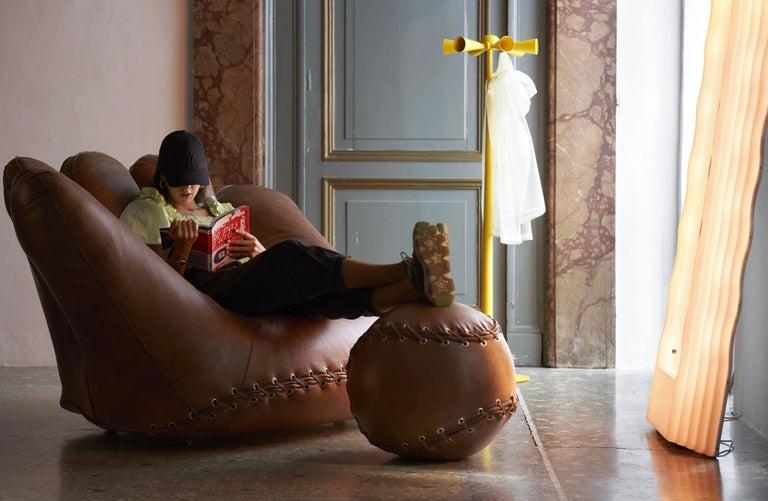 Leather 'Joe' Chair Designed by De Pas, D'Urbino, Lomazzi for Poltronova, Italy For Sale 3
