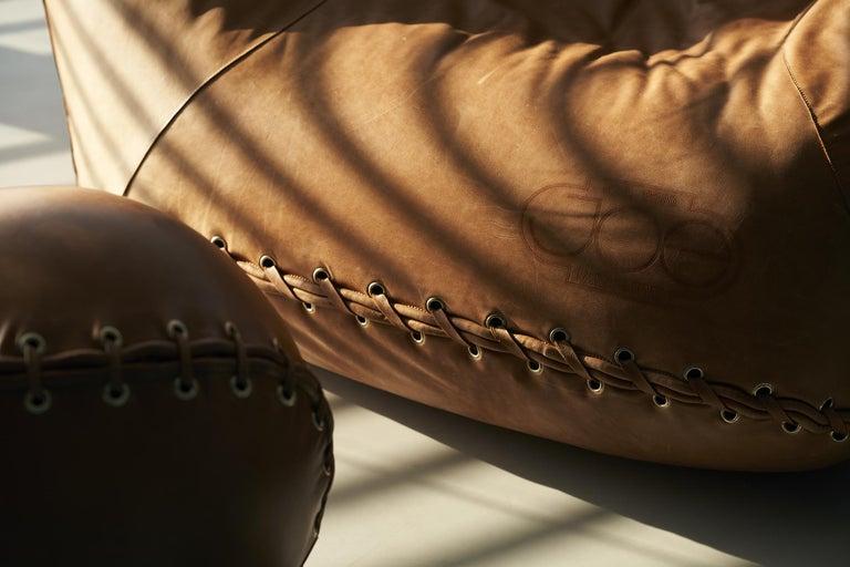 Mid-Century Modern Leather 'Joe' Chair Designed by De Pas, D'Urbino, Lomazzi for Poltronova, Italy For Sale
