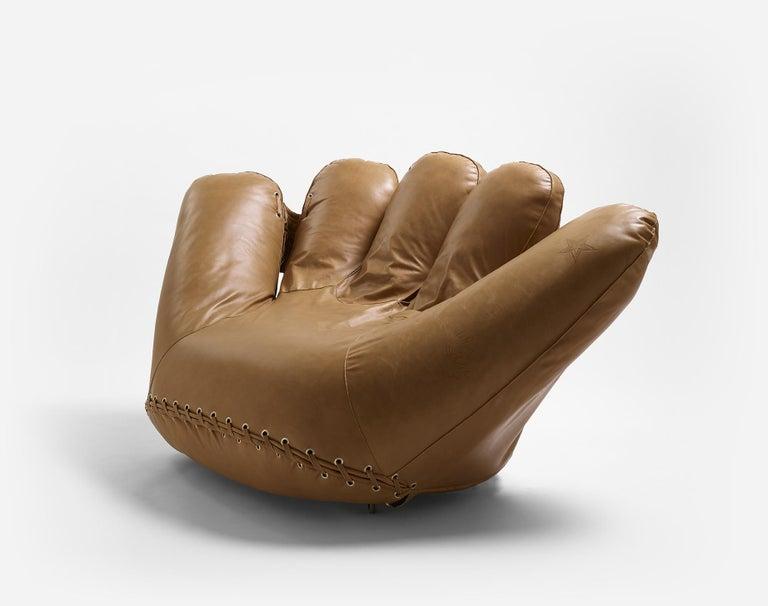 Italian Leather 'Joe' Chair Designed by De Pas, D'Urbino, Lomazzi for Poltronova, Italy For Sale