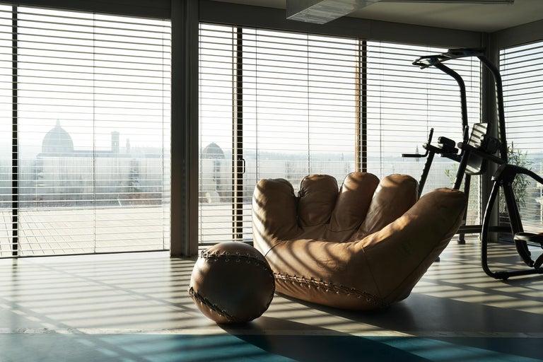 Leather 'Joe' Chair Designed by De Pas, D'Urbino, Lomazzi for Poltronova, Italy In New Condition For Sale In London, GB